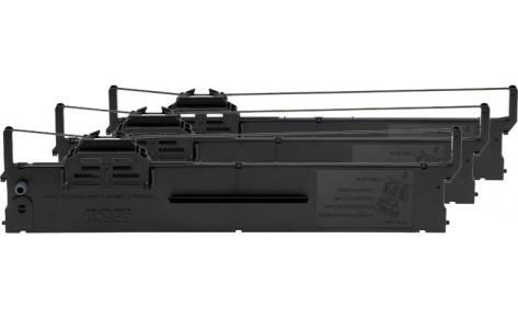 Риббон-картридж черный для PLQ-20/PLQ-20M (3 штуки)